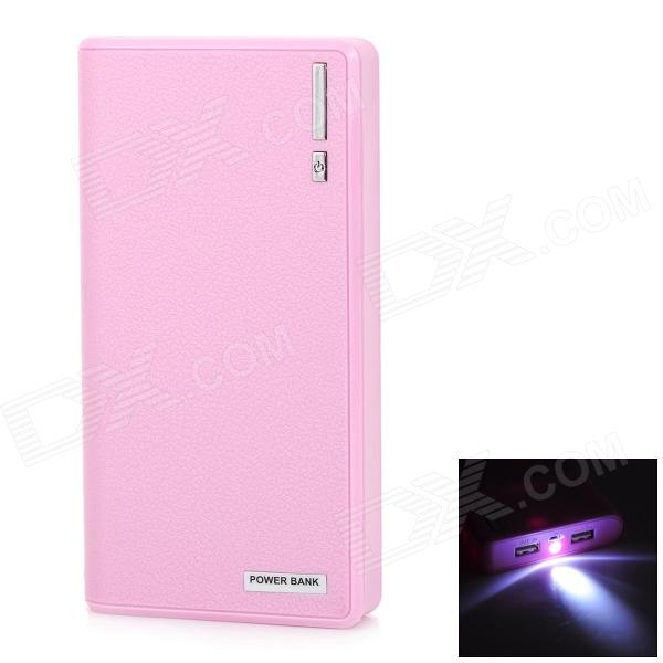 22000mAh External Battery Charger Power Bank w/ USB Cable for IPAD / IPHONE Series - Pink 20000mah external battery power bank w usb woven cable for google nexus 7 ii blue white