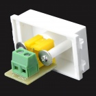 Wall Power Socket Video Module - White + Green