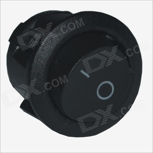 CS14A02 DIY 2P Round Shape ON--OFF Rocker Switch - Black (2PCS)