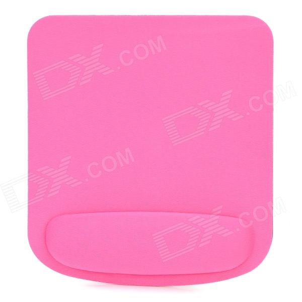 Square Shape Memory Cotton Mouse Pad w/ Wrist Support - Deep Pink
