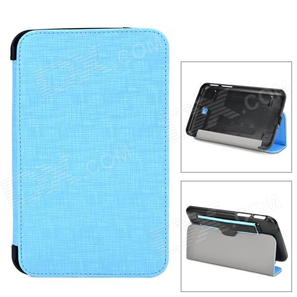 Multi-Functional Plastic + PU Smart Case w/ Stand / Dustproof Plug for Samsung Galaxy Tab 3 - Blue g cover pu leather hand bag for ipad 2 3 4 samsung galaxy tab p5100 10 table pc blue