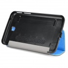 Multi-Functional Plastic + PU Smart Case w/ Stand / Dustproof Plug for Samsung Galaxy Tab 3 - Blue