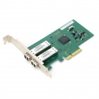 Winyao WY580-F2 PCI-E Dual Port Server Intel 82580 Chip Optical Fiber Network Card - Green