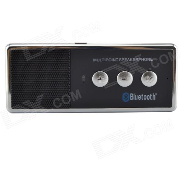 X3 Sunvisor Bluetooth V4.0 + EDR Car Hands-free Speaker - Black