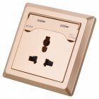 1000mA Single USB Charging Wall Socket Panel - Golden (250V)