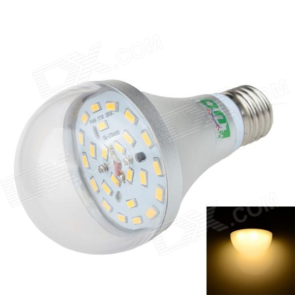 LUO E27 12W 1000lm 3000K 24-SMD 5630 LED Warm White Light Bulb - Silver + Transparent (85~265V)