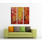 Iarts DX0109-10 Handmade Sunset Garden View Oil Painting - Multicolored