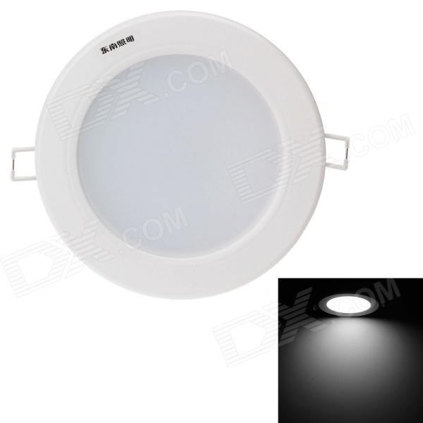 Danna 7W 630lm 6400K 14-SMD 5730 LED White Light Ceiling Lamp w/ Driver - White (AC 220V) lexing lx r7s 2 5w 410lm 7000k 12 5730 smd white light project lamp beige silver ac 85 265v