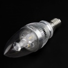 WaLangTing E14 3W 300lm 3200K 3-SMD 5730 LED Hot Candle Lampe à bougie blanche-Argent (85 ~ 265V)