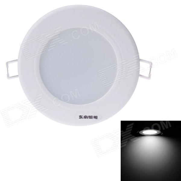 Danna 5W 450lm 6000K 9-SMD 5730 LED White Light Ceiling Lamp w/ Driver - White (AC 220V) black and white round lamp modern led light remote control dimmer ceiling lighting home fixtures
