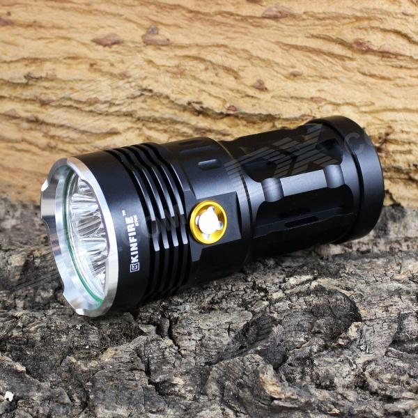 KINFIRE K70X 7-LED 3500lm 3-Mode White Flashlight - Black (4 x 18650) kinfire k40x 4 led 2000lm 3 mode white flashlight gray 4 x 18650