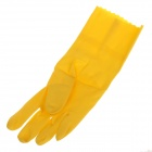 CLEANGUARD Waterproof Cashmere Non-slip Cuff Rubber Gloves - Yellow (Size M)