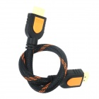 Eastor HDMI Male to Male Connecting Cable w/ Support 3D Video Signal - Black + Orange (30cm)