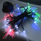 Dragonfly Style 0.03W Solar LED Green / Red / Blue Light Strip (550cm)