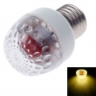 E27 3W 80lm 16-LED Yellow Light LED Bulb - White (AC 110~260V)