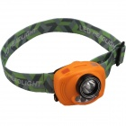 SingFire SF-633 1-LED White + 2-LED Red Headlamp - Orange + Black (3 x AAA)
