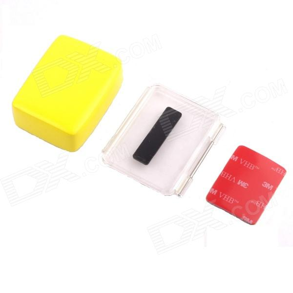 PANNOVO G-215 Waterproof Foam Floaty Backdoor w/ 3M Adhesive Tape for Gopro Hero 4/ 3+ - Yellow