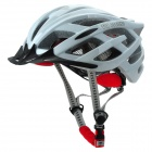 TOPCYCLING T800 Outdoor Cycling PC + EPS Helmet w/ 3-Mode Light - White