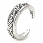 JUQI Retro Zinc Alloy Finger Ring - Antique Silvery