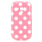 Polka Dot Style Protective TPU Back Case for Samsung Galaxy S3 Mini i8190 - Pink + White