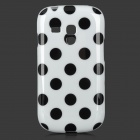 Polka Dot Style Protective TPU Back Case for Samsung Galaxy S3 Mini i8190 - White + Black