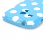 Polka Dot Style Protective TPU Back Case for Samsung Galaxy S3 Mini i8190 - Blue + White
