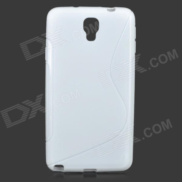S Style Anti-Slip Protective TPU Case for Samsung Galaxy Note 3 Lite / Note 3 Neo / N7505 - White protective silicone case for nds lite translucent white