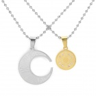 SHIYING 316L Stainless Steel Necklace for Lovers - Golden + Silver
