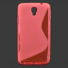 """S"" Style Anti-Slip TPU Case for Samsung Galaxy Note 3 Lite / Note 3 Neo / N7505 - Deep Pink"