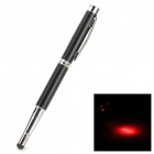 4-in-1 Capacitive Touch Screen Stylus Pen w/ Ballpoint Pen / LED Flashlight / Laser Pointer - Black