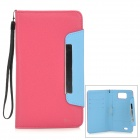 i-6.0-RRD Protective PU Leather Case for Samsung Galaxy Mega i9152 / i9200 - Deep Pink
