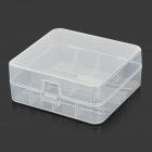 RRUSTU MT-01 Plastic 2 x 26650 Battery Storage Box - Translucent White