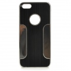 YTW-182 Stylish Protective PC + Alloy Back Case for IPHONE 5C - Black + Silver