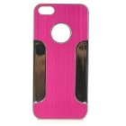 YTW-182 Stylish Protective PC + Alloy Back Case for IPHONE 5C - Deep Pink + Silver