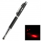 CKB-4 4-in-1 Capacitive Screen Stylus Pen w/ Ballpoint Pen / LED Flashlight / Laser Pointer - Black