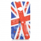 UK National Flag Style Graffiti Big Ben Pattern Protective TPU Back Case for HTC One M7 - Red + Blue