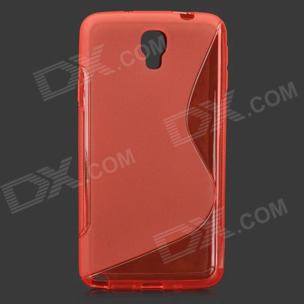S Style Anti-Slip Protective TPU Case for Samsung Galaxy Note 3 Lite / Note 3 Neo / N7505 - Red protective silicone back case w stand for samsung galaxy note 3 translucent grey white