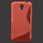 """S"" Style Anti-Slip Protective TPU Case for Samsung Galaxy Note 3 Lite / Note 3 Neo / N7505 - Red"