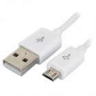 IKKI Micro USB Charging / Data Cable w/ Switch for Samsung Galaxy S3 Mini + More - White (100cm)
