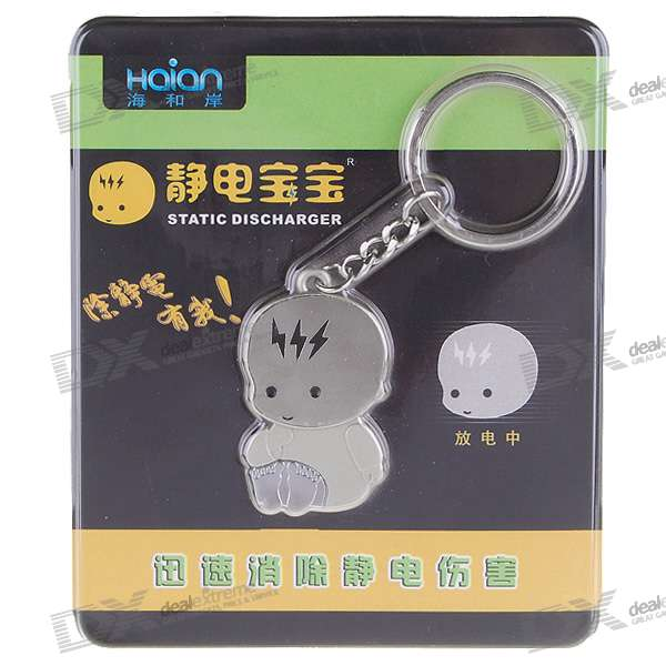 Cute Baby Anti-Static/Static Removal Prevent Shock Keychain sd 2210 car static electricity eliminator key ring green silver