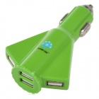 STAR GO ST-06 Aircraft Style 4-Port USB 5V 4100mA Car Charger - Green (12~24V)
