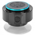 FS-002 Waterproof 3W Bluetooth V3.0 Speaker w/ Microphone / USB / 3.5mm - Black + Blue