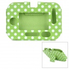 Stylish Polka Dot Pattern PU Leather Case w/ Holder for VTech InnoTab 3S - White + Green