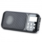 1.2'' LCD Portable Media Player Speaker w/ FM / TF / USB - Black + White