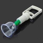 H2SF Plastic Therapy Vacuum Cupping Tool Set - Green + Beige + Multicolored (7 PCS)