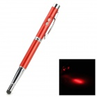 CKB-4 4-in-1 Capacitive Screen Stylus Pen w/ Ballpoint Pen / LED Flashlight / Laser Pointer - Red