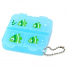 Mini-week Capsule Portable Medicine Organizer Box - Blue