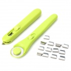 DEMETAL 3-in-1 Stainless Steel Rolling + Push Clip + Box - Light Green