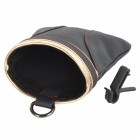 PRINCE SKINN XW-17 Praktisk Holdbar Car Air Outlet Mounted Leather Storage Bag - Svart