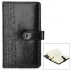 WH-7740 PU Leather Sleeve Paper Notebook - Black + White (127-Sheet / Size M)
